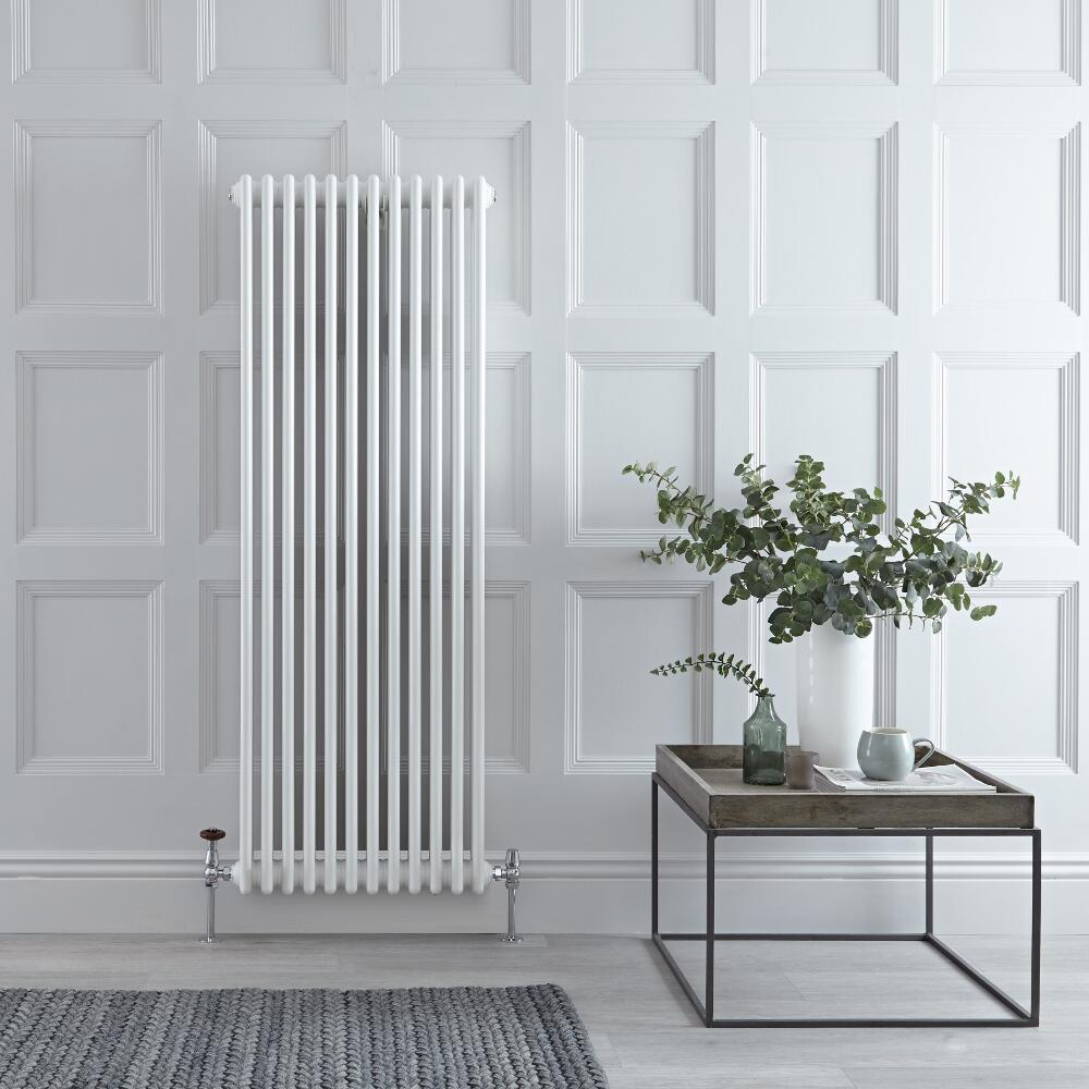 Gliederheizkörper Vertikal 3 Säulen Nostalgie Weiß 1500mm x 563mm 2081W - Regent