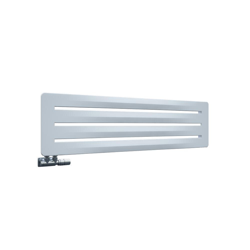 Design Heizkörper Horizontal Einlagig Weiß 325mm x 1200mm - Leba