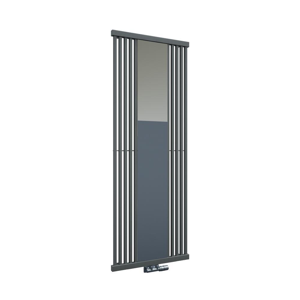 Design Heizkörper mit Spiegel Vertikal Einlagig Steingrau 1700mm x 640mm - Lublin