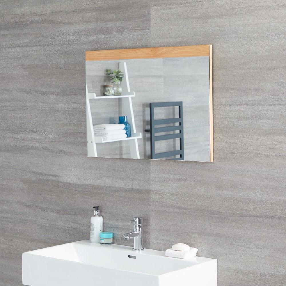 Hudson Reed Newington - 500x700mm Spiegel Goldene Eiche