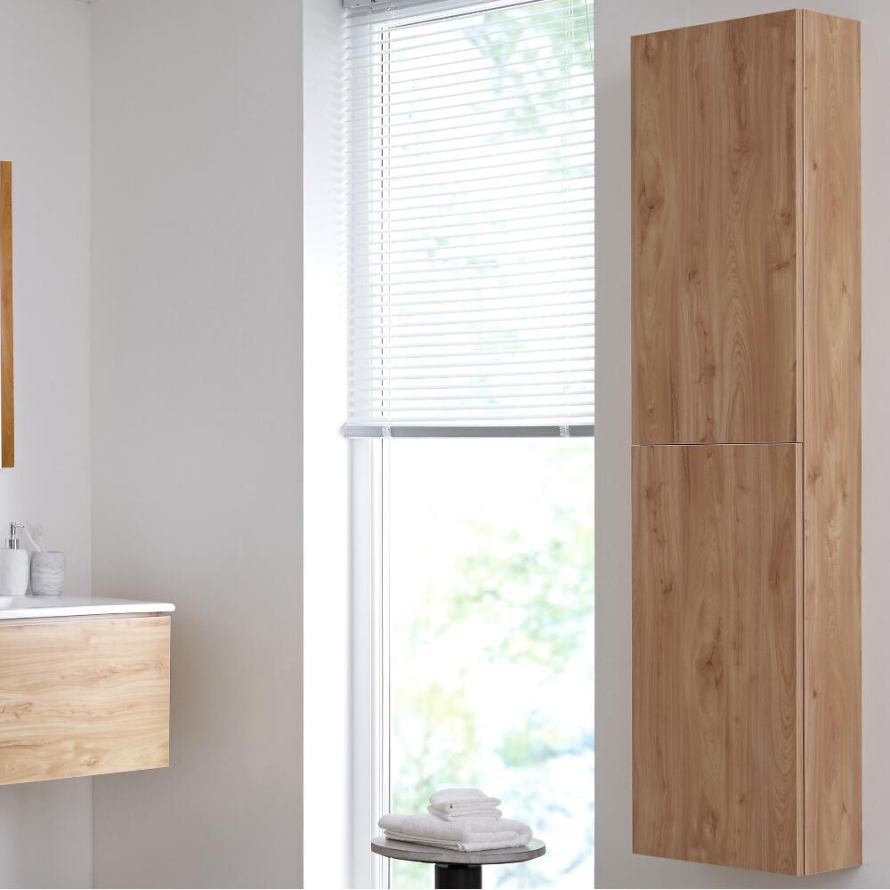 Hudson Reed Newington - 350x1500mm Geschlossener Badschrank - Goldene Eiche