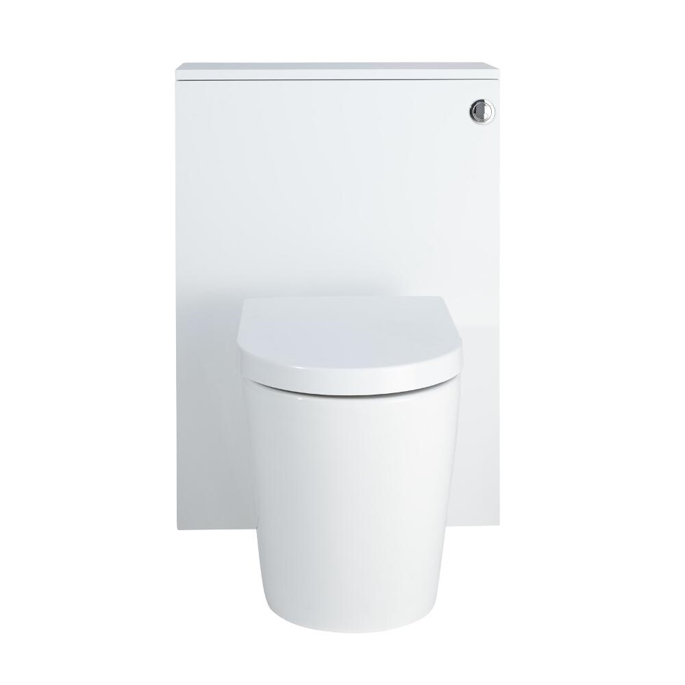 Newington - Moderne Standtoilette mit Vorwandelement 600mm & Spülkasten - Mattweiß