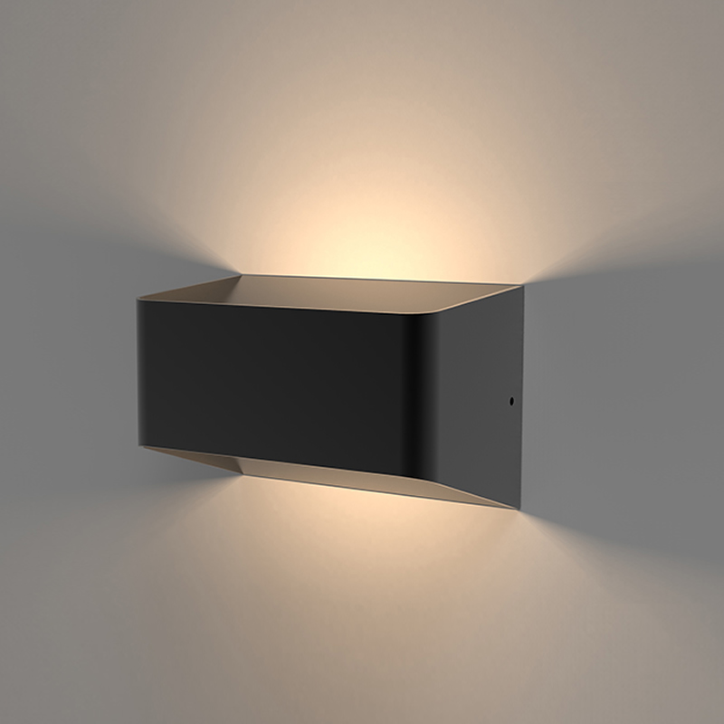 Biard Orta LED 10W IP54 Quadratisches Wandlicht – Schwarz