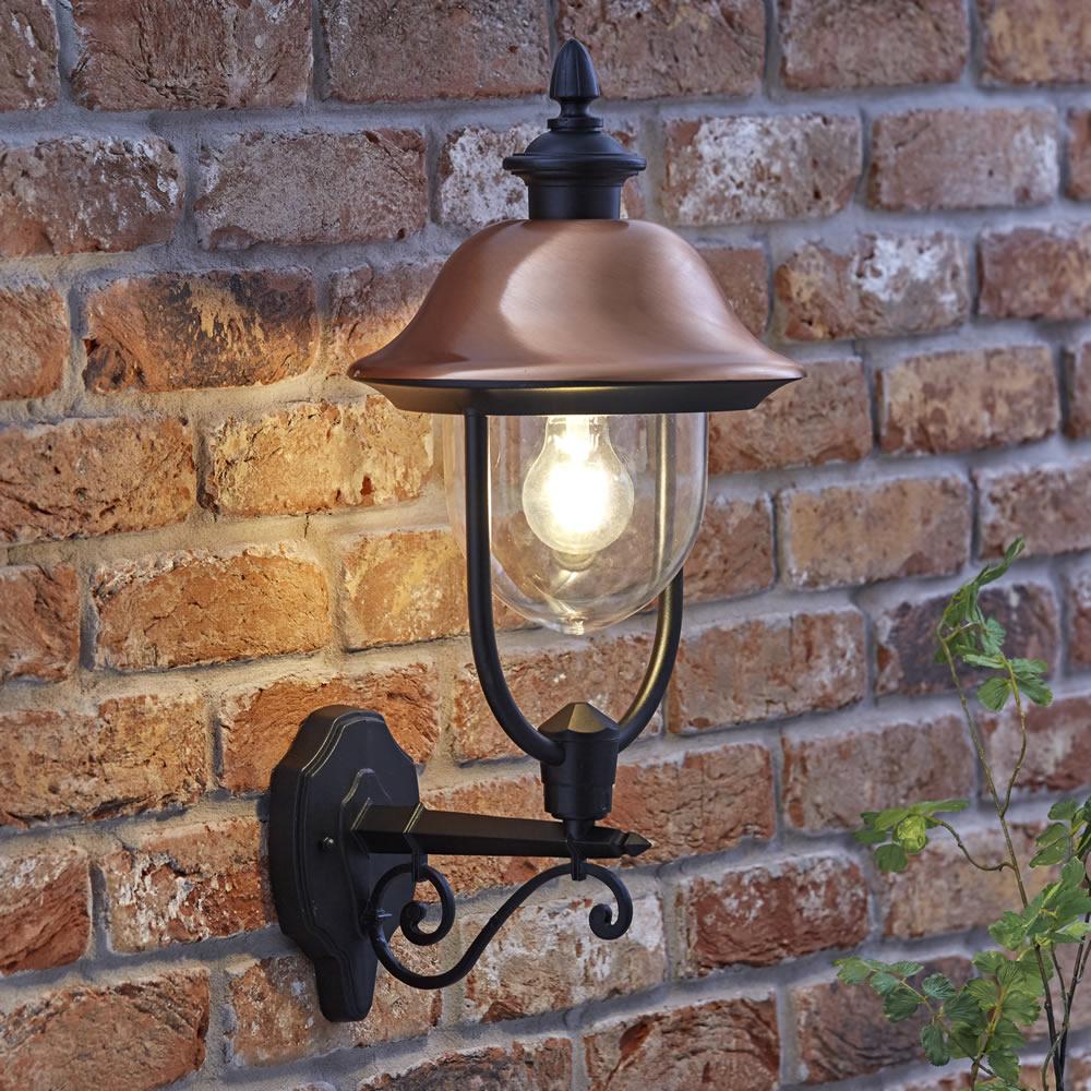 Biard Stehende Wandleuchte Verona - Kupferhelm - mit LED