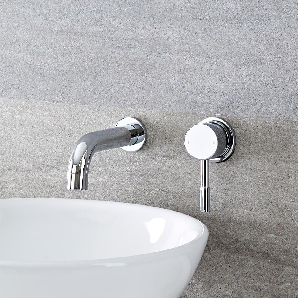 2-Loch Unterputz Waschtischarmatur mit Hebelgriff - Mirage