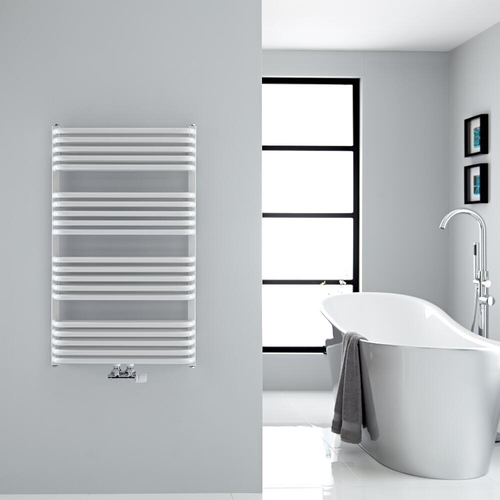 Handtuchheizkörper Vertikal Mittelanschluss Weiß 1000mm x 600mm 1114W - Arch