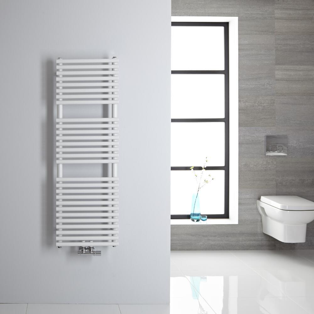 Handtuchheizkörper Mittelanschluss Vertikal Weiß 362 Watt 1200mm x 400mm - Magera