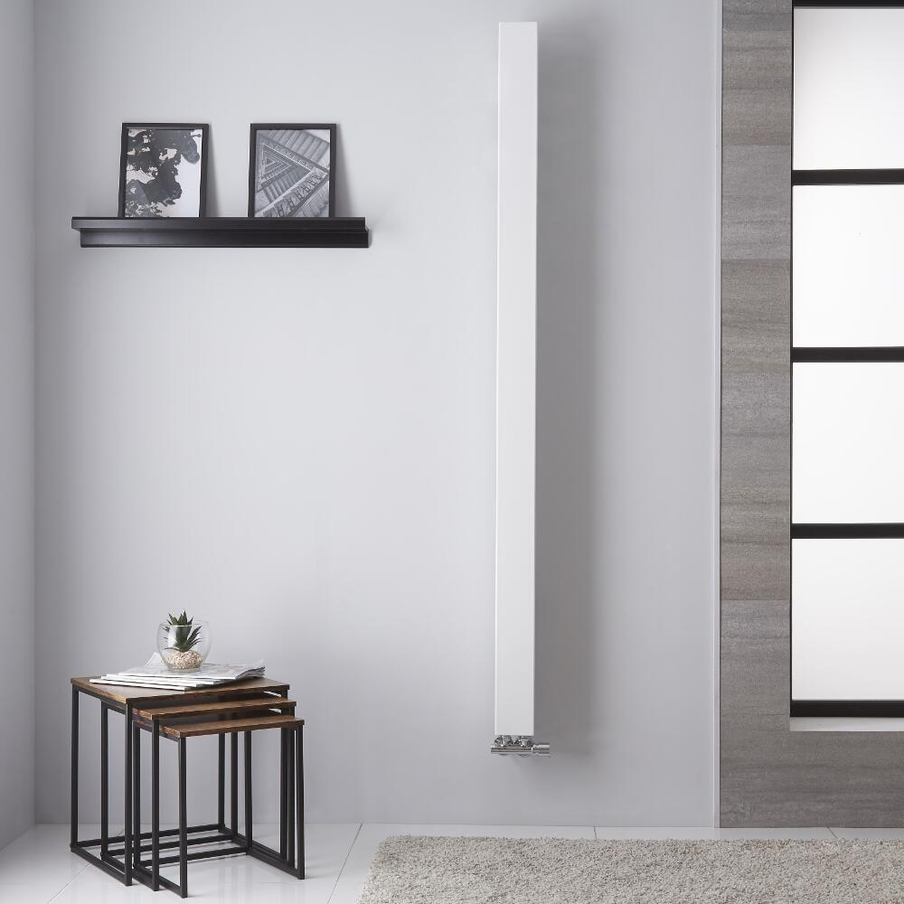 Design Heizkörper Mittelanschluss Weiß 459W 1800mm x 100mm - Una