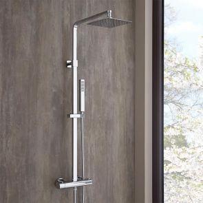 quadratische Duschsäule mit Handbrause - Surge