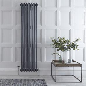 Gliederheizkörper Vertikal 3 Säulen Nostalgie Anthrazit 1800mm x 450mm 2171W - Regent