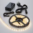 Biard 5m 5050 300 LED Strip Set, warmes Weiß, wasserdicht, inkl. Netzteil