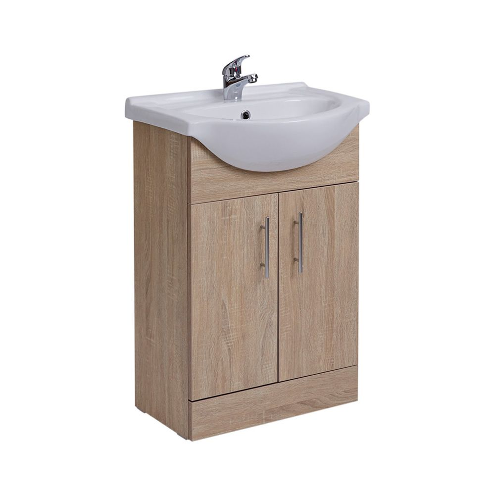 waschtischunterschrank mit aufsatzwaschbecken 550mm. Black Bedroom Furniture Sets. Home Design Ideas
