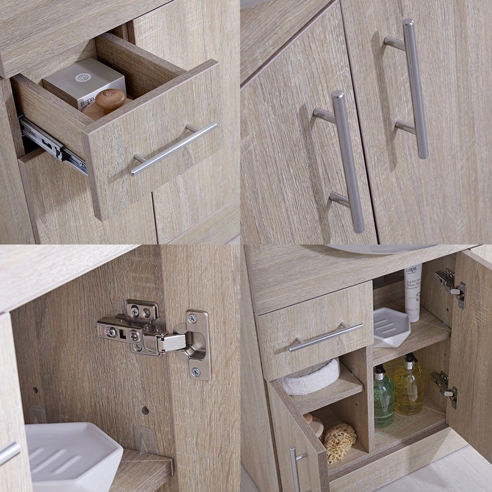 waschbecken und toiletten set eiche 1240mm ovale toilette. Black Bedroom Furniture Sets. Home Design Ideas
