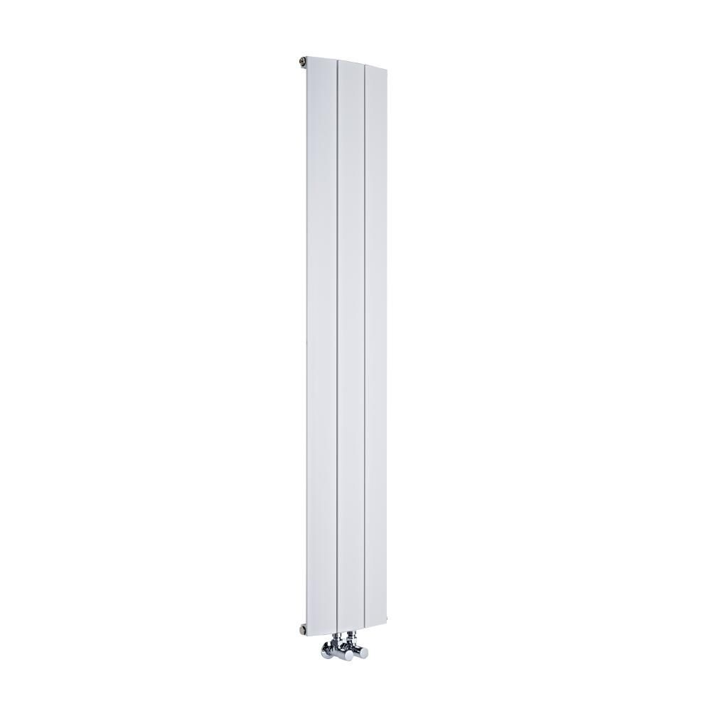 design heizk rper vertikal einlagig mittelanschluss aluminium wei 1600mm x 280mm 1021w aurora. Black Bedroom Furniture Sets. Home Design Ideas