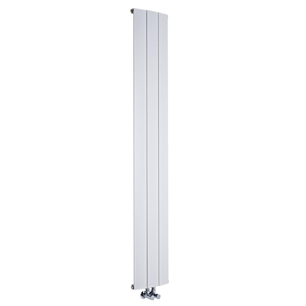 design heizk rper vertikal einlagig mittelanschluss aluminium wei 1800mm x 280mm 1152w aurora. Black Bedroom Furniture Sets. Home Design Ideas