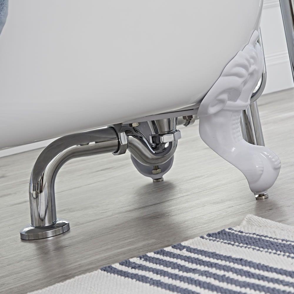 Siphon für freistehende badewannen auf füßen