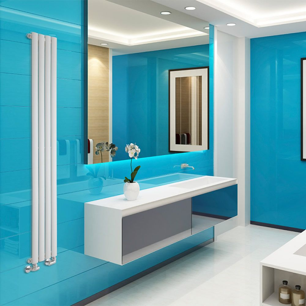 design heizk rper vertikal einlagig wei 1780mm x 236mm 595w revive slim. Black Bedroom Furniture Sets. Home Design Ideas