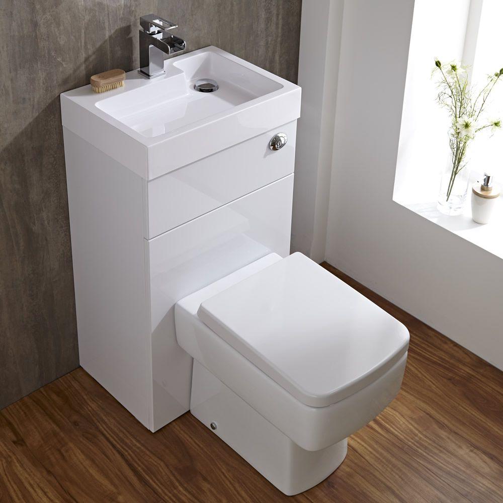 eckige toilette mit sp lkasten und integriertem waschbecken. Black Bedroom Furniture Sets. Home Design Ideas