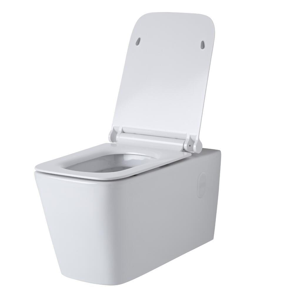 h nge wc quadratisch sitz mit absenkautomatik sandford. Black Bedroom Furniture Sets. Home Design Ideas