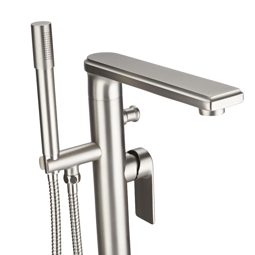 Hudson Reed Aldwick   Moderne Freistehende Mischbatterie Für Dusche Und Bad    Gebürstetes Nickel