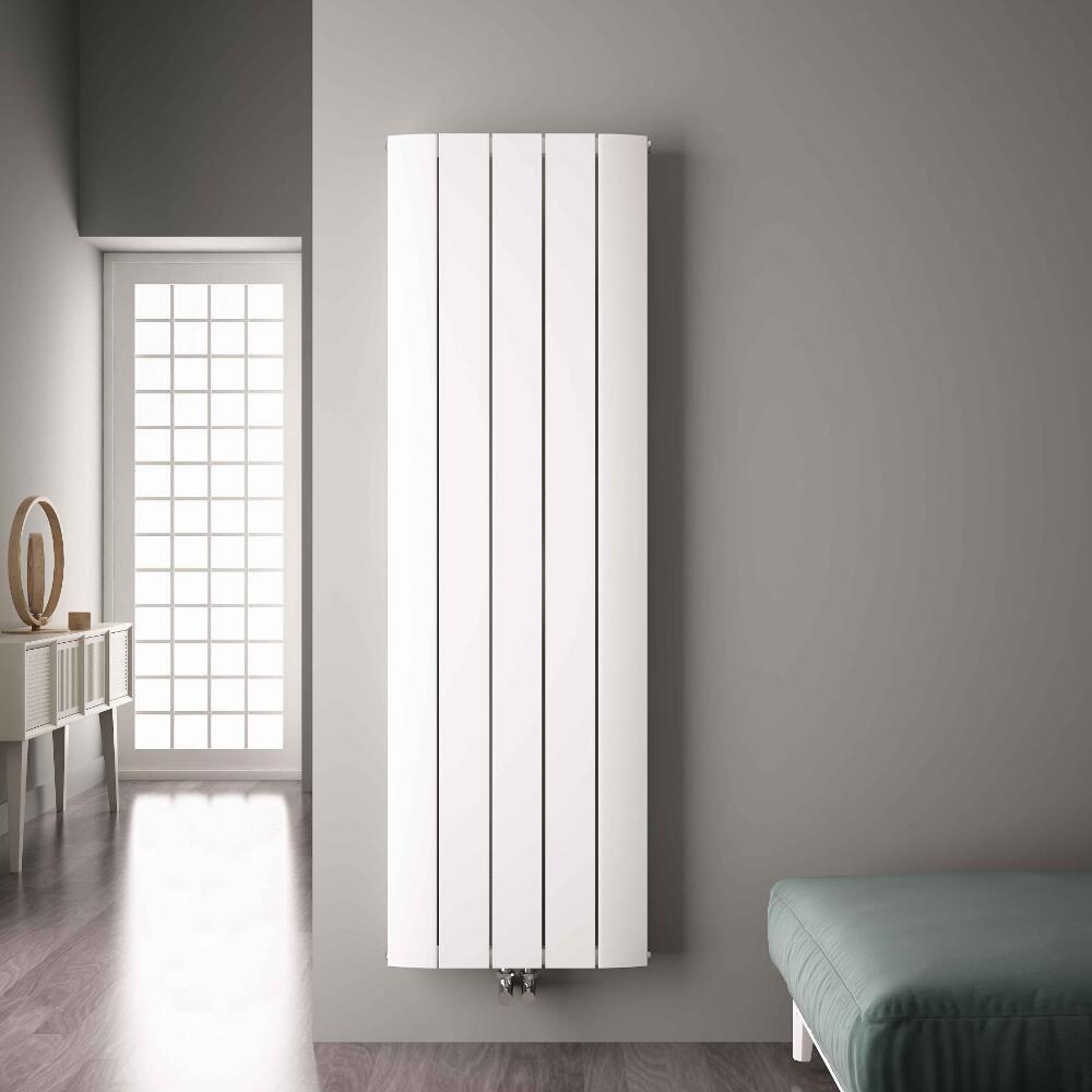 design heizk rper vertikal einlagig mittelanschluss aluminium wei 1800mm x 470mm 1919w aurora. Black Bedroom Furniture Sets. Home Design Ideas