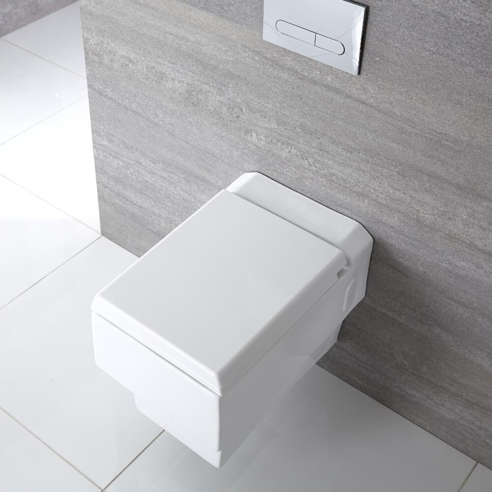 h nge wc quadratisch sitz mit absenkautomatik haldon. Black Bedroom Furniture Sets. Home Design Ideas