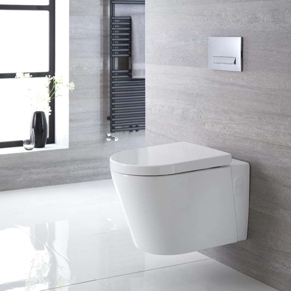h nge wc oval sitz mit absenkautomatik exton. Black Bedroom Furniture Sets. Home Design Ideas