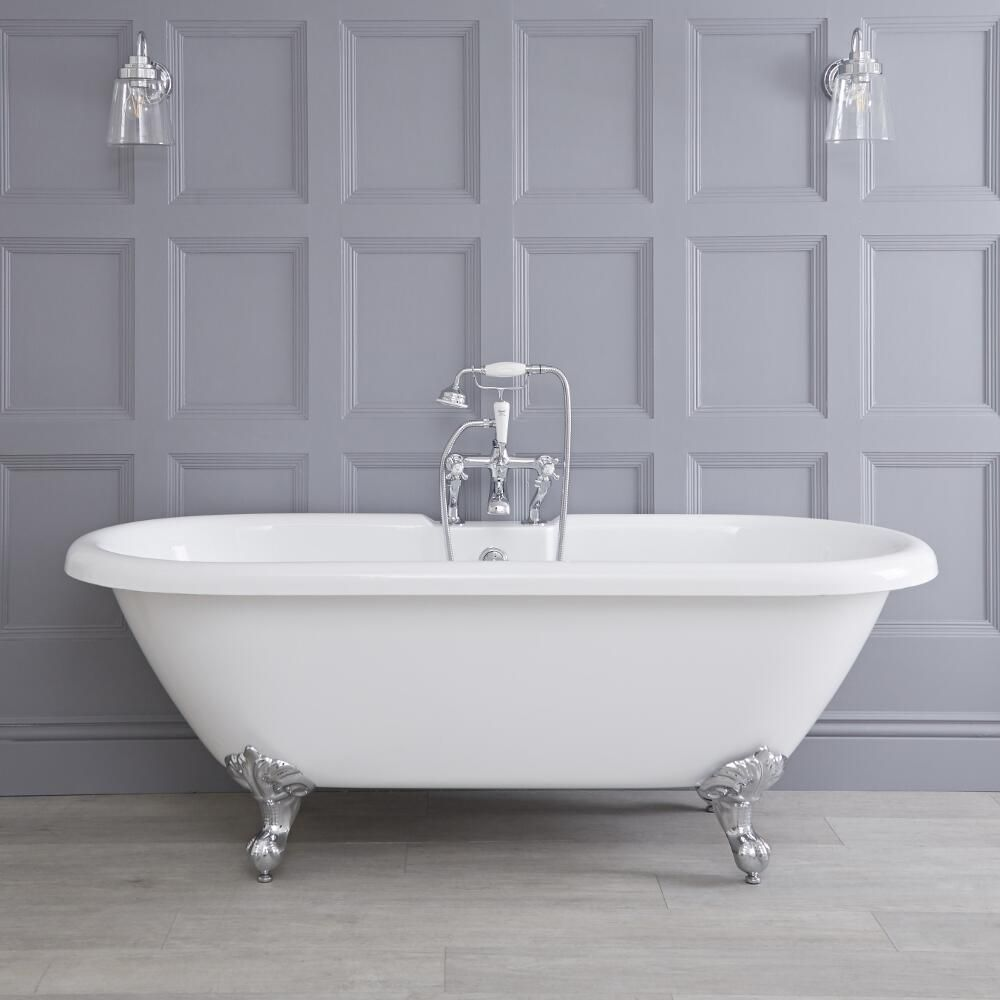 Freistehende badewanne mit füßen napoli