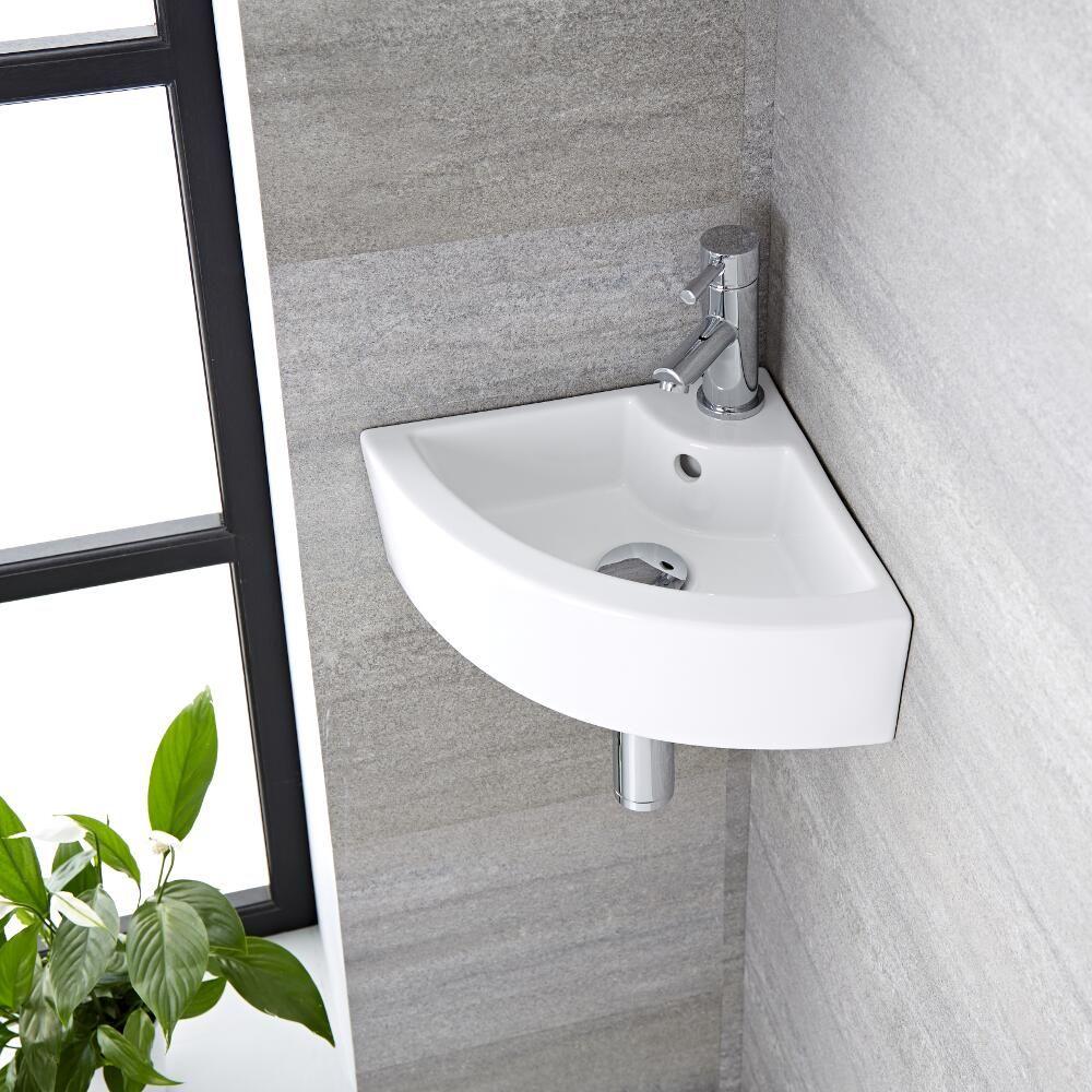 eck-waschbecken zur aufsatzmontage oder wandmontage 460mm x 320mm