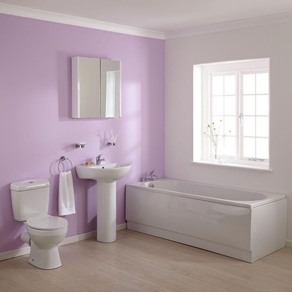 wc mit sp lkasten waschbecken und einbaubadewanne im set melbourne. Black Bedroom Furniture Sets. Home Design Ideas
