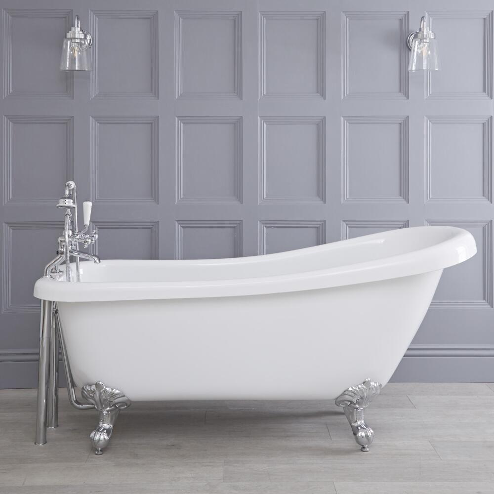 freistehende badewanne roma mit ausw hlbaren f en 1710mm. Black Bedroom Furniture Sets. Home Design Ideas