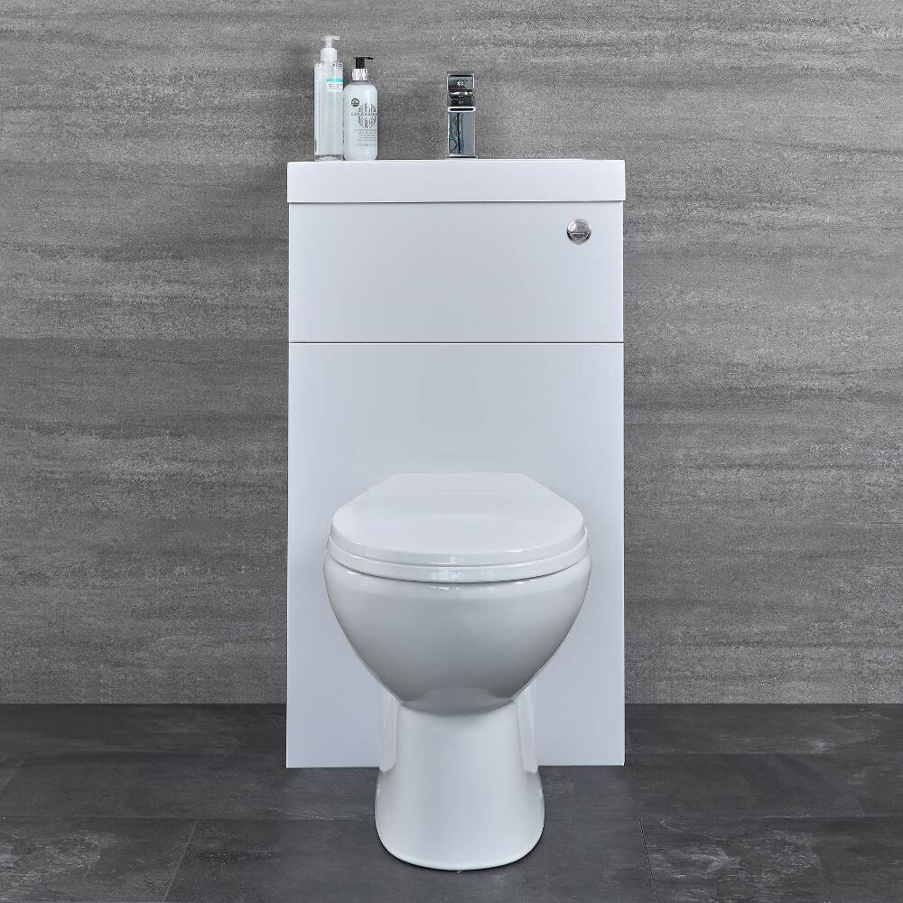 Berühmt Ovale Toilette mit Spülkasten und integriertem Waschbecken ZZ65