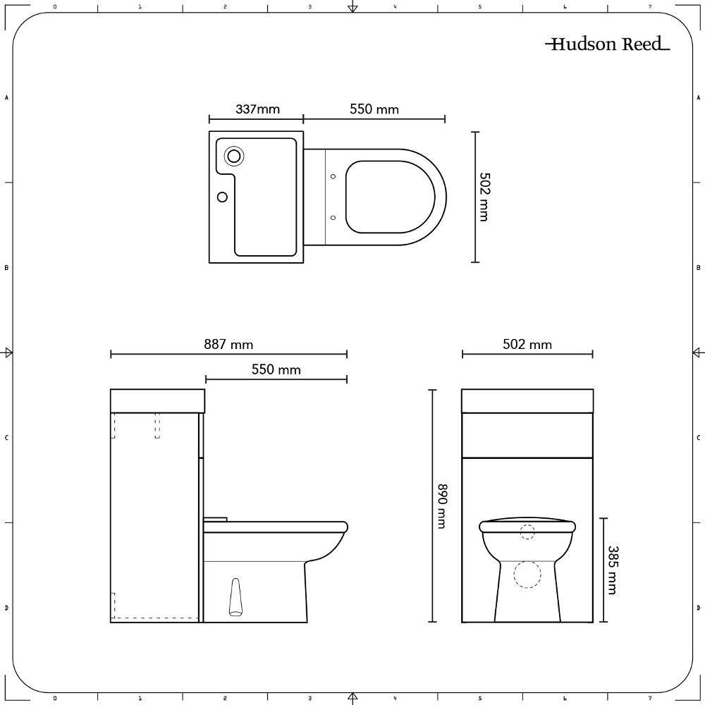 Turbo D-förmige Toilette mit Spülkasten und integriertem Waschbecken UV73