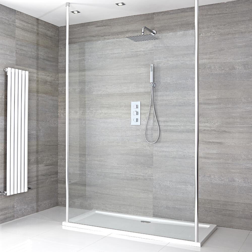 walk in duschwand 1200mm inkl 1200mm x 800mm duschtasse. Black Bedroom Furniture Sets. Home Design Ideas