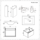 Newington - Waschtisch mit Unterschrank 600mm, WC mit Vorwandelement, Badschrank & Spiegel - Mattgrau