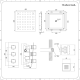 2-Wege Unterputzarmatur Eckig inkl. 400mm Unterputzduschkopf & 4 Seitenbrausen - Kubix