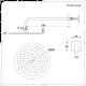 Aldwick Thermostatarmatur mit 200mm rundem Kopf und Duschstangenset - Gebürstetes Nickel