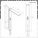 Narus Digitales Unterputz Duschpaneel mit Regendusche & Handbrause