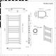 Elektrischer Badheizkörper Gebogen Chrom 800mm x 500mm - Eco inkl. 200W Heizstab