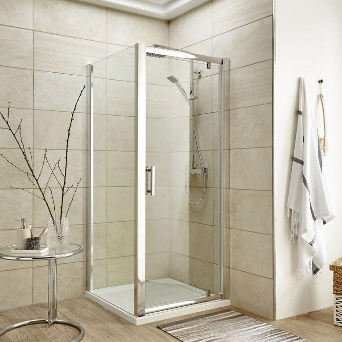 Duschabtrennung Quadratisch 900mm inkl. Duschtasse und Tür