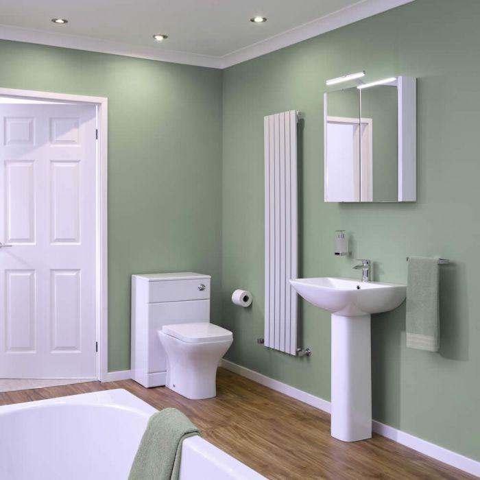 WC mit Spülkasten, Waschbecken und Einbaubadewanne im Set - Harrison