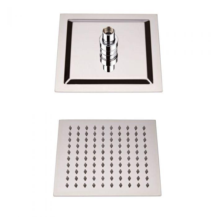 Wassersparender Duschkopf Edelstahl - Quadratisch - 200mm x 200mm