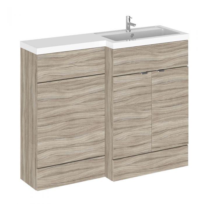 1100mm waschtisch wc kombination treibholz waschtischeinheit rechts. Black Bedroom Furniture Sets. Home Design Ideas