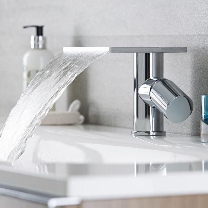 1-Loch Waschtischarmatur mit Wasserfallausguss - Blade