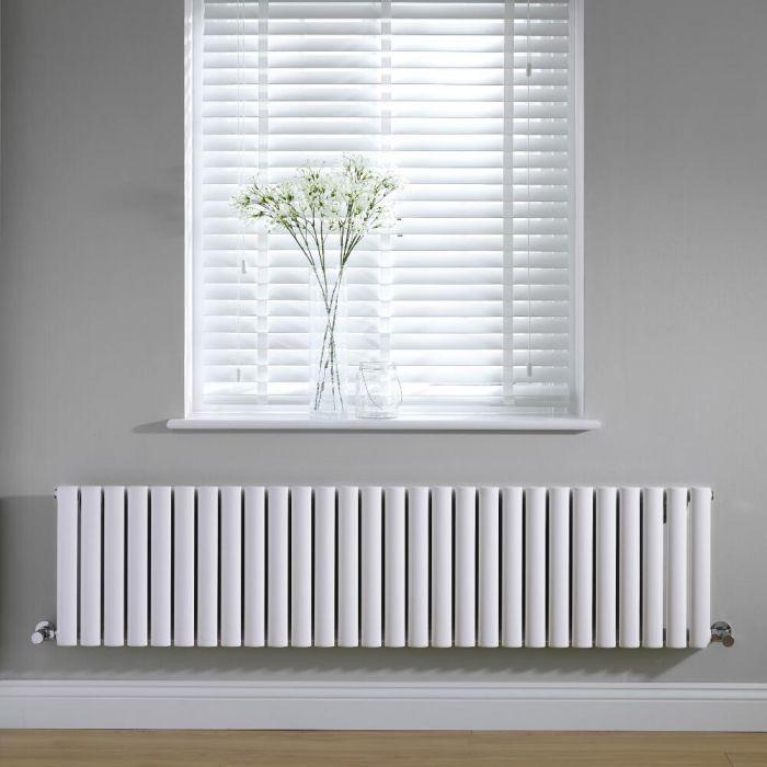 Design Heizkörper Horizontal Einlagig Weiß 400mm x 1647mm 1269W - Revive