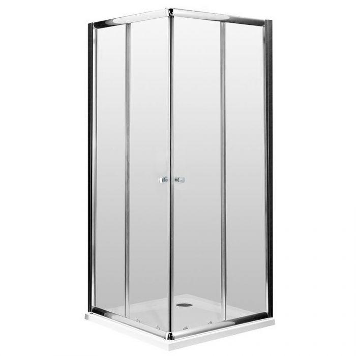 Duschwand Ecktür 900mm - Hutton