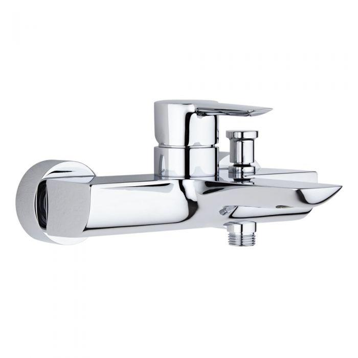 Badewannenarmatur mit Handbrausenanschluss zur Wandmontage - Claydon