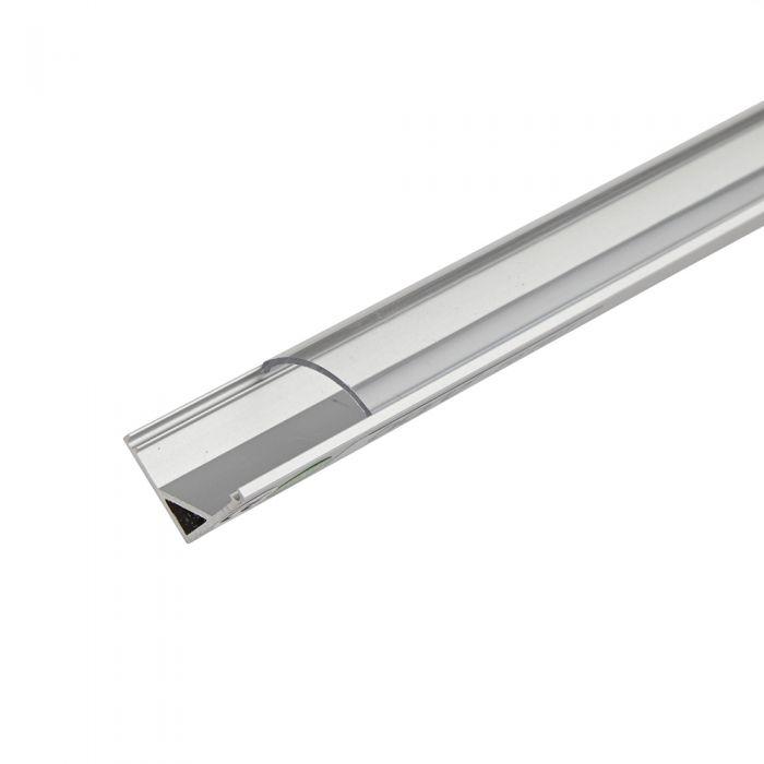 Biard 5x Befestigungs-Schiene V-förmig 100cm für LED Strips mit runder Blende