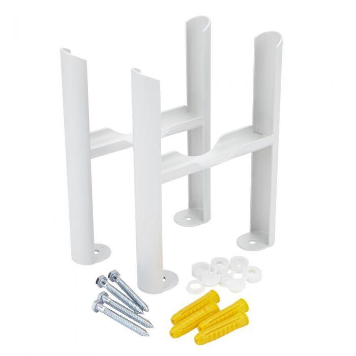 Bodenmontagefüße für weiße Gliederheizkörper Regent mit 4-Säulen