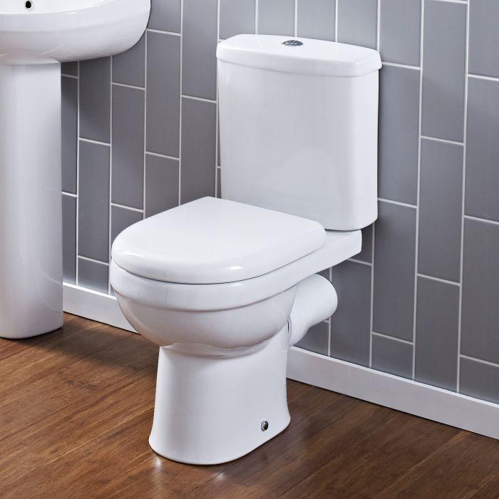 WC Keramik mit WC-Schüssel und Spülkasten - Belstone